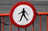 Brasov, no walking sign, Romania, Transsilvania, Brasov - Brasov, Transsilvania, Romania, 01/01/2014