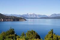 Lago Nahuel Huapi and Andes Mountains, Nahuel Huapi National Park, Neuquen, Argentina