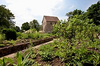 Herb Garden And Remains Of The Abbey Church In Lorsch, Germany