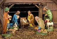christmas crib with jesus