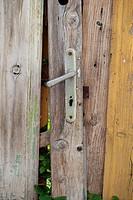 Old door, historic centre, Baska, Krk, Croatia