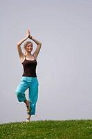 Yoga On A Meadow
