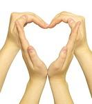 hands form of heart