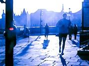Morning jog blue