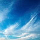 Cirrus clouds in sky.