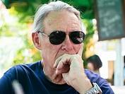 Senior man in sunglasses