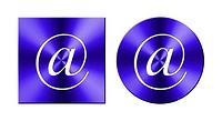 Address, round and square metallic button