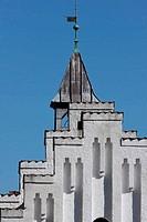Church in denmark in the summer sun