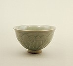 Northern celadon bowl, decorated with lotus petal design, Sung Dynasty (960-1280) (celadon ware), Chinese School / Private Collection / Bridgeman Imag...