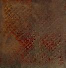 Oriental metalic imprinted parchment