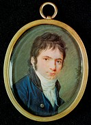 Miniature Portrait of Ludwig Van Beethoven (1770-1827), 1802, Hornemann, Christian (1765-1844) / Beethoven Haus, Bonn, Germany / Bridgeman Images