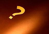 Question Mark On Dark