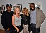 """Vince Wilburn Jr., Jill Whelan and Erin Davis Attends the """"""""A Day In The Life Of Miles Davis"""""""" Glen Craig Photo Exhibit Opening Reception at The Leica..."""