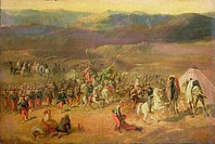 The Capture of the Retinue of Abd-el-Kader (1808-83) or, The Battle of Isly on August 14th, 1844, 1844-63 (oil on canvas), Vernet, Emile Jean Horace (...