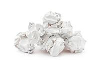 Heap of crumpled paper