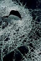 Cracked broken glass.