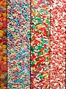 display multi-colored candy