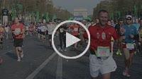 Paris, France. Marathon, Crowd Scene, Runners on Avenue Champs-Elysees,