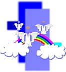 angels over a rainbow