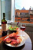 Italian dinner, Rome, Italy.
