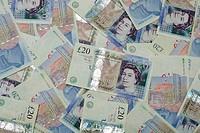 Twenty and ten pound notes