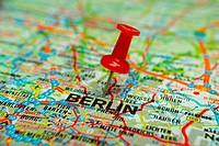 Thumbtack on map - Berlin