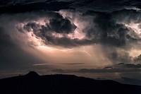 Thunderstorm scenery, Dalmatia, Croatia, Europe