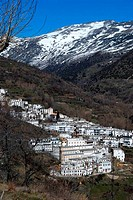 White village, Trevelez, Spain.