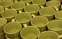 green empty cups