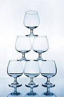 stack of empty wine