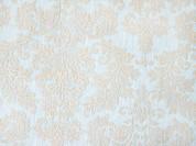 cream flock pattern