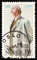 Postage stamp Norway 1978 Henrik Ibsen