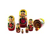 A collection of nesting dolls