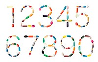 Numbers with pills