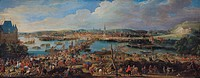 View of Rouen from Saint-Sever, c.1715-20 (oil on canvas), Martin, Pierre-Denis (1663-1742) (attr.to) / Musee des Beaux-Arts, Rouen, France / Bridgema...