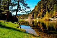 Magic mountain lake