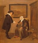 The Consultation, c.1655 (oil on canvas), Brekelenkam, Quiringh Gerritsz. van (c.1620-68) / Louvre, Paris, France / Bridgeman Images