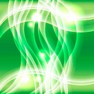 Green light effect wave background
