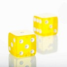 Yellow dice.