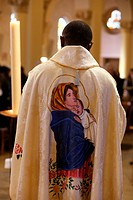 Virgin mary on a chasuble.