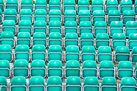 Rows Of Folded Seats