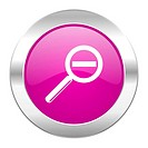 lens violet circle chrome web icon isolated