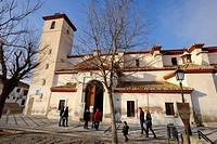 S. Nicolas church in the neighborhood of Albaycin, Granada, Andalusia, Spain.