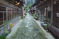 Stone pavement street
