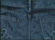 back blue jeans texture