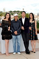 the director Hou Hsiao-Hsien and cast the actresses Shu Qi, Zhou Yun, the actor Chang Chen during the photocall of film ' The assassin ' at 68th Canne...