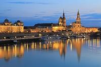 Dresden at Dusk, Germany.