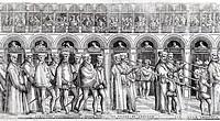 Dogal Procession, c.1555-60 (woodcut) (See also 476241, 476243-5), Pagani, Matteo (fl.1538-62) / Museo Correr, Venice, Italy / Bridgeman Images