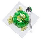 Portion of Lime Jello on white