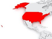 Map of worlds. USA.
